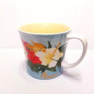 Starbucks Hawaii Bone China Hibiscus Flower Mug